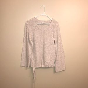 Madewell Waffle Knit Tie Sweater (Size S)